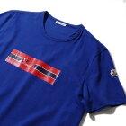 モンクレールプリントTシャツ8037150738ブルーメンズ【トップスTシャツ半袖おしゃれメンズ】MONCLER