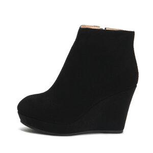 ブーツ ウェッジソール ショートブーツ ウェッジブーツ ブーティー ブーティ / ロングブーツ ブーツ ブーツレディース ブーツ黒 ブラックブーツ ブーツブラック スエードブーツ 小さいサイズ 21.5 22cm 22.5 23cm 23.5 24cm 24.5 25cm 【同梱不可】厚底ブーツ 疲れない