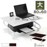 PCデスク ロー 低い キャスター付 キャスター ストッパー ストッパー付 ノートパソコンデスク パソコンデスク テーブル 机 つくえ ロータイプ 幅80cm 送料無料 おしゃれ 白 ホワイト ブラック ブラウン ピンク 大 あす楽対応