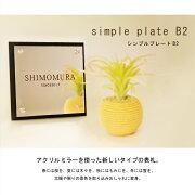 表札【シンプルプレートB2】期間限定で専用オプション無料プレゼント3月下旬から出荷予定