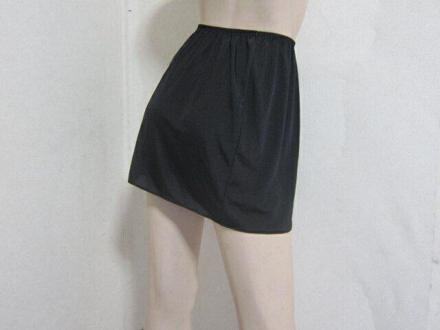 脚をキレイに魅せる黒カラーの大人なミニスカート用ペチコート M-40、L-40 【最大ポイント10倍】