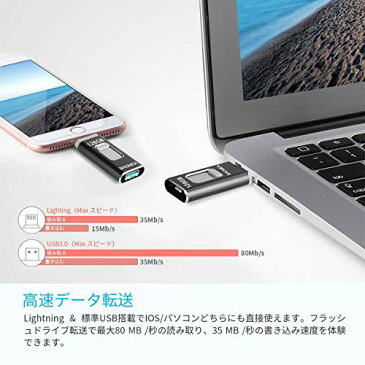 iPhone USBメモリ128GB フラッシュドライブ OTGメモリー スライド式 高速データ転送 3in1 iPhone