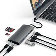 SatechiV2マルチUSBハブType-Cパススルー充電4KHDMI出力カードリーダー