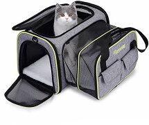 ペットキャリーバッグペットバッグカート猫キャリー小型犬用キャリーペットキャリー拡張可能通気性抜群