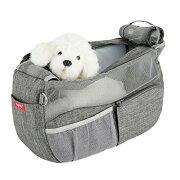 通気性抜群小型犬スリングペットバッグ人気犬猫キャリーバッグきゃりーバッグ底が厚くなる