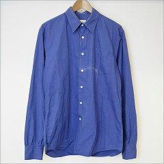 ■DRIES VAN NOTEN(ドリスヴァンノッテン) ブロードロングスリーブシャツ ブルー 50■c【中古】