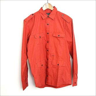 ■有Surface To Air(safisutuea)eporetto的軍事襯衫/M/RED紅M■b
