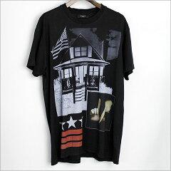 ■GIVENCHY(ジバンシイ) 12AW アメリカンハウスTシャツ ブラック XS■b【中古】