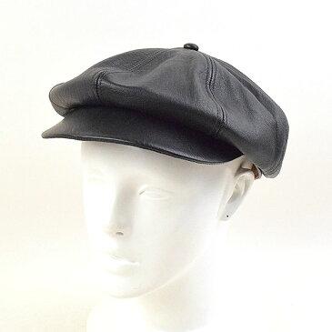 【中古】TIME WORN CLOTHING タイムウォーンクロージング ATLAST&CO HORSE HIDE DRESS CAP レザーキャスケット メンズ ブラック 7 1/2