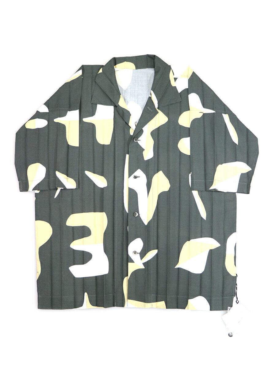 トップス, カジュアルシャツ HOMME PLISSE ISSEY MIYAKE 19SS Edge Print Shirt 3
