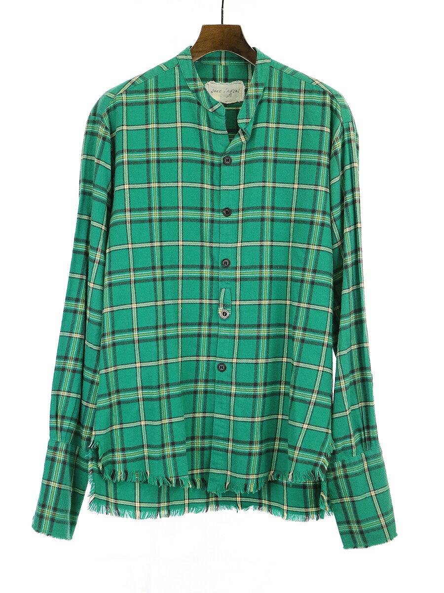 トップス, カジュアルシャツ GREG LAUREN 19AW Green Plaid Studio Shirt 3