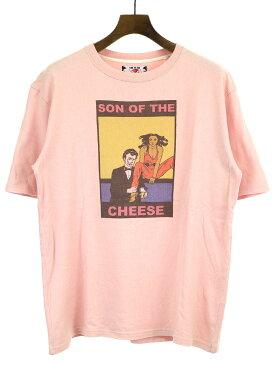 【中古】SON OF THE CHEESE サノバチーズ プリントTシャツ ピンク M メンズ