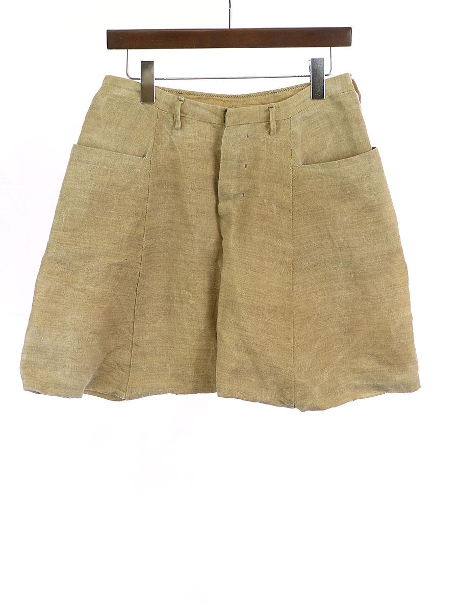 メンズファッション, ズボン・パンツ LABEL UNDER CONSTRUCTION WAXED TRAPEWZIUM PANT SKIRT 46