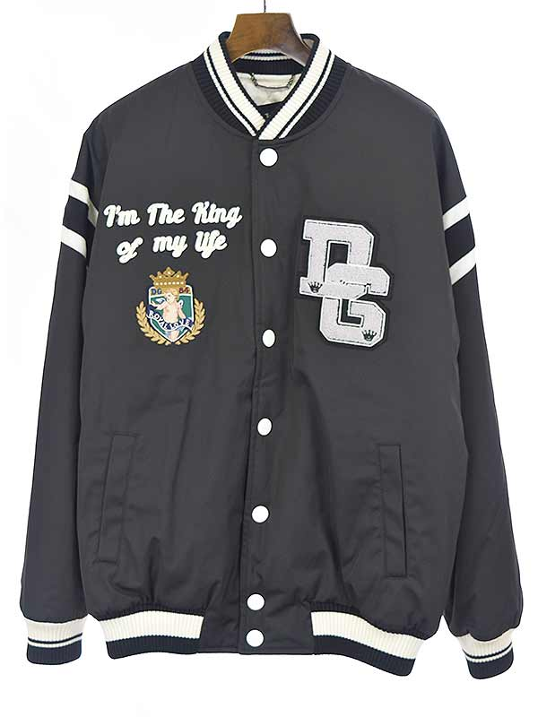 メンズファッション, コート・ジャケット DOLCEGABBANA 18AW Oversize Bomber Jacket with Royal King Embroidery and DG Logo 48