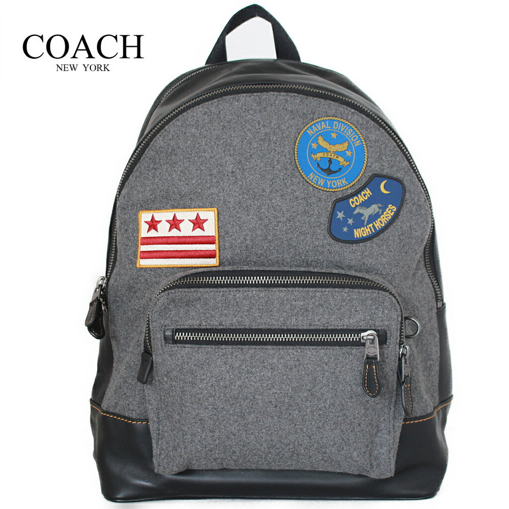 74de1f783f50 コーチ メンズ バッグ リュック バックパック フェルト ミリタリーパッチ アウトレット COACH WEST BACKPACK WITH  MILITARY PATCHES 正規品 新品 新作 プレゼント ...