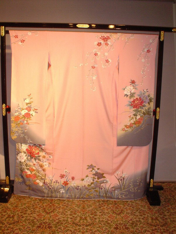 Moe♪レンタル成人式振袖セット(ピンク花柄)安心フルセットレンタル