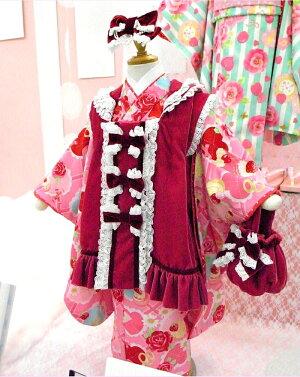 """七五三着物三歳2010新作""""SEIKOMATSUDA""""/3歳女児ブランド着物被布セット(SF-1)"""