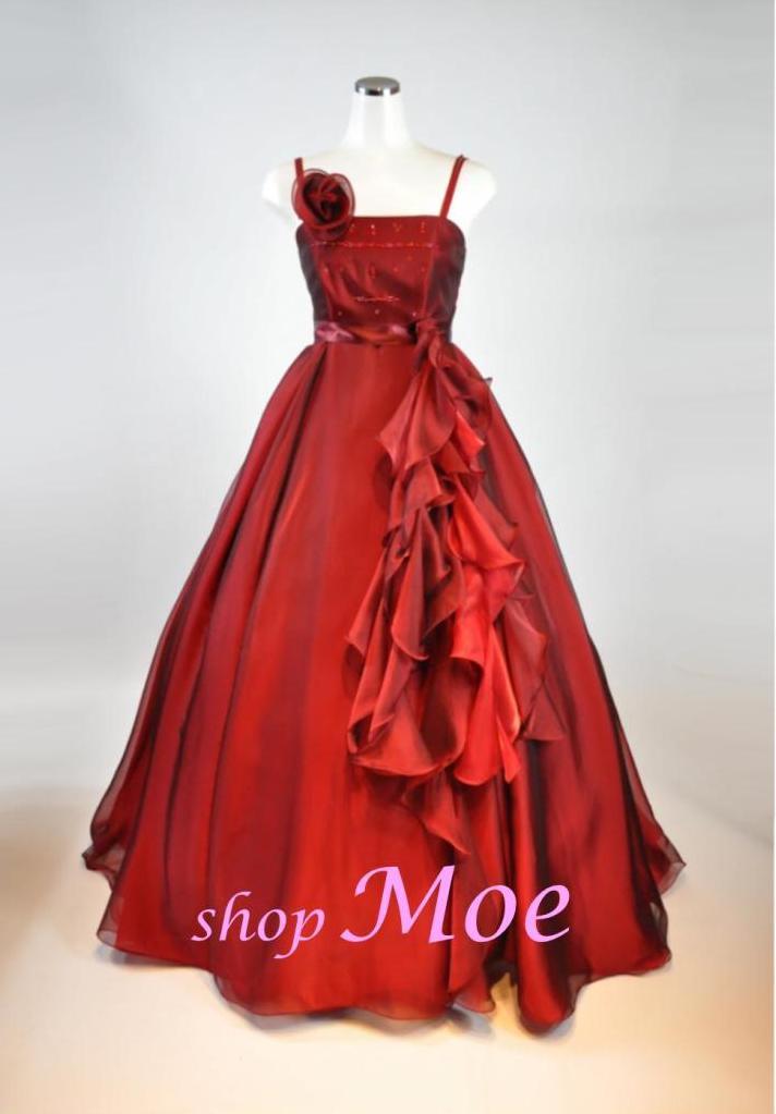 レンタルドレスカラードレスパーティドレスフォーマルドレス ホテル仕様高級レンタル商品海外ウエディング可能商品赤 rose rent_cd_023 shop_Original
