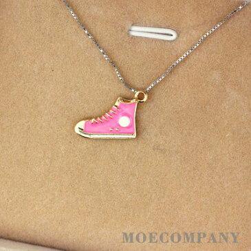 ピンク スニーカー 靴 チャーム ペンダントトップ メタルパーツ ネックレストップ アクセサリーパーツ ハンドメイドパーツ デコパーツ