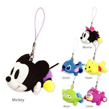 ディズニー 寝そべりマスコット ストラップ付き・かわいいミッキーやミニー、プーさんのぬいぐるみミニマスコットキーホルダーストラップ♪鞄やバッグ、携帯やスマートフォン、お友達のプレゼントやラッピングとセットに♪スマホ ディズニーグッズ Disney