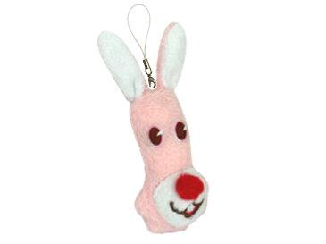 【メール便対応】バニロング キーチェーン( Bunny Long Keychain ) GLADEE(グラディー)携帯(スマホ)などに取り付けられるストラップ金具とキーホルダーにできるボールチェーンの2WAY☆うさぎのマスコットが可愛い!