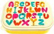 ランチボックス(フォーク付) アルファベット(Alphabet) GLADEE(グラディー)・かわいいお弁当箱、同シリーズのお弁当グッズとと一緒に、おべんとうばこだけでなくフードコンテナや保存容器などのタッパー代わりにも、男の子や女の子の子供にもオススメ