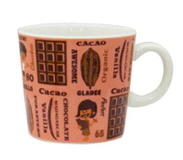 カカオマグ GLADEE(グラディー)・コーヒーカップ、ラテマグ、ミルクマグに!プレゼントやギフトにかわいいマグ(コップ)、男の子や女の子、可愛いキッズ(子供)のクリスマス、お誕生日にも♪