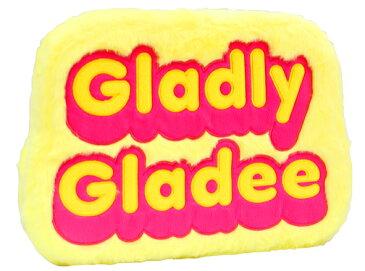 グラディー プラッシュロゴサインボード イエロー(Plush Logo Sign Board yellow) GLADEE(グラディー)・アメリカンっぽい雰囲気のファー使いが可愛いサインボード!子供部屋やリビング、車のインテリアに♪使い方次第でクッションにも♪
