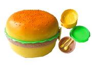 ハンバーガーランチボックスラウンドタイプ スプーン フォーク ハンバーガー インテリア ボックス
