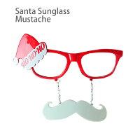 【メール便対応】セパレート サングラス サンタひげ・クリスマスパーティやイベントを盛り上げる人気のサンタ眼鏡♪ダイカットのおもしろメガネからおしゃれな伊達メガネまで個性的なめがねがたくさん♪プレゼントにもオススメ