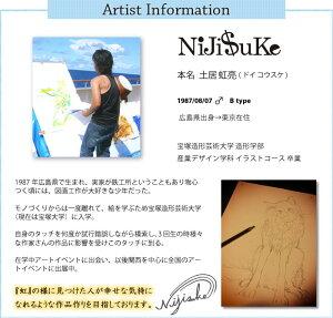 「NIJISUKE」ファブリックパネル/おしゃれな動物アート17種類から選べる《即納可》[アーティストコラボニジスケNiJi$uKeファブリックボード木製手作り北欧ファブリックアートパネル絵画壁掛け正方形長方形インテリア友安製作所]