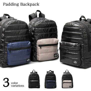 REGiSTA パディングバッグパック キルティング バックパック リュック リュックサック メンズ 旅行 軽量 大容量 中綿 ナイロン 黒 ブラック ネイビー グレー