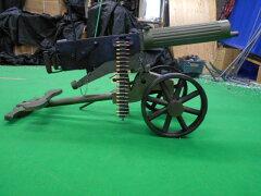 マキシム重機関銃 車輪銃架付き 電動ガン サバゲー 02P19Dec15