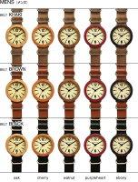 職人が削り出して作った無垢の天然木をおしゃれに組み込んだ腕時計