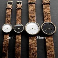 シンプルなデザインにさりげない個性が光るおしゃれなコルクレザー腕時計
