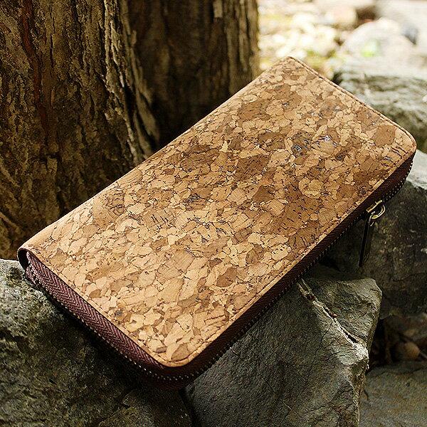 大容量でスマートな使い心地、コルクを活用したジッパー仕様の長財布「CONNIE Zip Round Wallet」