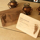 ■出産祝いギフトに赤ちゃんの足跡を刻印「Message Board B6」
