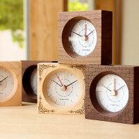 ■木製アラーム時計「BlockClockアラーム付き」