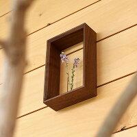 絵画のように飾れる木製のミニフラワーベース・一輪挿し
