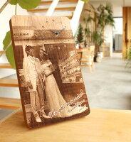 感謝の想いと共に時を刻む木製メッセージ時計