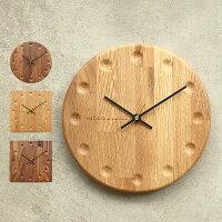木製壁掛け時計「WallClockブロックストライプ」オーク・ウォールナット