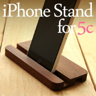 """■As a substitute for a dock! To a desktop a place to stay! Stands """"iPhone Stand for 5c"""" / North European style design for eyephone made of trees"""