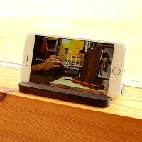 iPhoneで動画等を見るときは、スタンドに立てておくと便利です