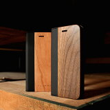 ■【+L 8/7】木目が美しい手帳型iPhone8/7用木製ケース「iPhone8/7 FLIPCASE」【Qi対応】