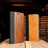 ■「+LUMBER iPhoneXS Max FLIPCASE」iPhoneXS Max アイフォンケース カバー 手帳型 ブック型 ウッド 木製 天然木 Qi対応 かっこいい おしゃれ デザイン ギフト プレゼント Hacoa 名入れ可 6.5インチ 高品質