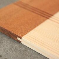 材の接合部分には、木材特有の反りを防ぐための加工が施されています