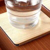 本物の白松を使用した木製コースター「Coaster-Square-」北欧風デザイン