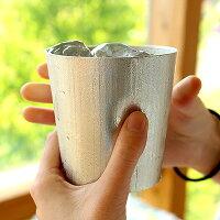 日本の職人が作る錫100%で作られた鋳物のコップ