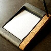 メモがとりやすいどっしり鋳物のメモトレイ・トレー