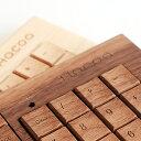 【Hacoa直営店】【名入れ無料】木のキーボード、テンキー付きでスタイリッシュに登場!【楽ギフ...